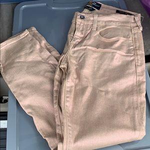 Lucky Brand Metallic Rose Gold Jeans